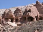 Carved rocks in Cappadocia
